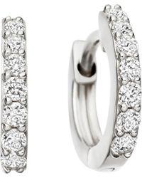 Astley Clarke Women's White Gold Mini Halo 14ct White-gold Diamond Hoop Earrings