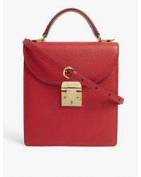 Mark Cross Uptown Leather Cross-body Bag - Red