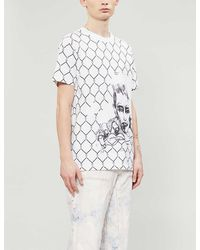 Off-White c/o Virgil Abloh Broken Fence Cotton-jersey T-shirt - White