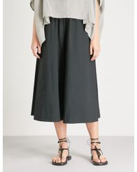 Toogood - The Boxer High-rise Wide-leg Cotton-poplin Trousers - Lyst