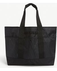 Snow Peak X-pac Drawstring Nylon Tote Bag - Black