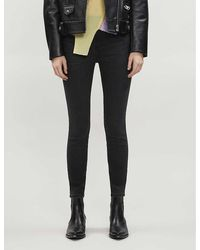 J Brand Alana Skinny High-rise Jeans - Black