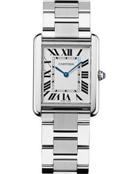 Cartier - Tank Solo Steel Large Watch - Lyst