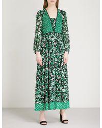 Claudie Pierlot Floral-print Crepe Dress - Green