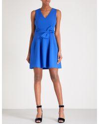 Claudie Pierlot - Bow-embellished Crepe Dress - Lyst