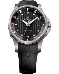 Corum - 403.100.04/f371 An10 Admirals Cup Titanium And Rubber Strap Watch - Lyst