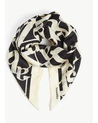 Nanushka Miani Graphic-print Silk Scarf - Black