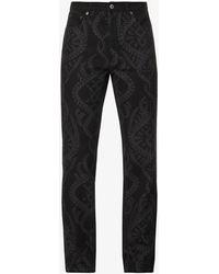 Daily Paper Lafon Regular-fit Straight-leg Jeans - Black