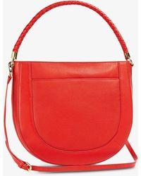 Ted Baker Plaited Leather Saddle Cross-body Bag - Orange