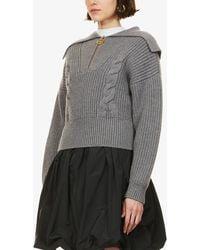 Patou Oversized Wool Jumper - Grey