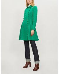 Ted Baker Blarnch Scalloped Wool-blend Coat - Green