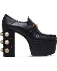 Gucci - Vegas Horsebit Platform Loafer - Lyst