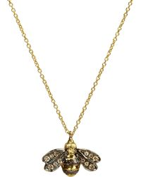 Annoushka - Love Diamonds 18ct Yellow-gold Bee Pendant Necklace - Lyst
