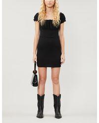 PacSun X Kendall & Kylie Puff-sleeved Stretch-crepe Mini Dress - Black