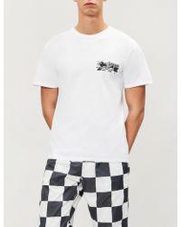 Stussy - La Riots-print Cotton-jersey T-shirt - Lyst