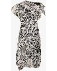 Vivienne Westwood - Amnesia Asymmetric Embroidered Wool-blend Mini Dress - Lyst