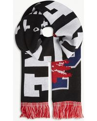 Reese Cooper - Lone Pine Knitted Cotton Scarf - Lyst