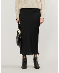 Free People Normani Satin Skirt - Black