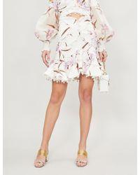 Zimmermann - Corsage Linen Mini Skirt - Lyst