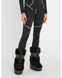 Perfect Moment High-rise Knitted Thermal leggings - Black