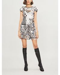Paco Rabanne - Sequinned Mini Dress - Lyst
