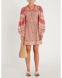 Zimmermann - Juniper Rioting Printed Cotton-voile Mini Dress - Lyst