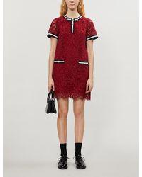 Claudie Pierlot Romilo Lace Mini Dress - Red