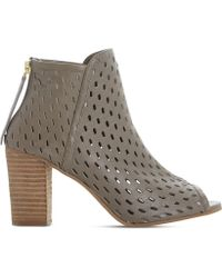 Dune - Iola Perforated Leather Sandals - Lyst