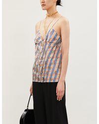 Gucci Giraffe-print Silk-satin Camisole - Multicolor