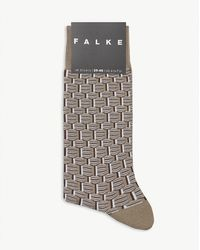 Falke Strap Boundary Cotton-blend Socks - Multicolour