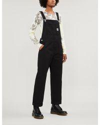 Carhartt WIP W' Bib Straight-leg Denim Overalls - Black