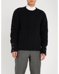Thom Browne - Cable-knit Wool Jumper - Lyst