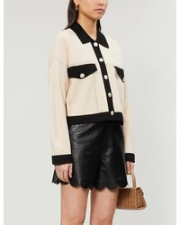 Sandro Cher Stretch-knit Cardigan - Natural