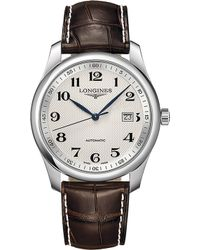 Longines - L2.793.4.78.3 Master Collection Stainless Steel And Leather Watch - Lyst