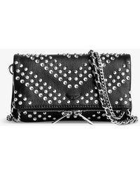 Zadig & Voltaire Rock Nano Leather Clutch Bag - Black