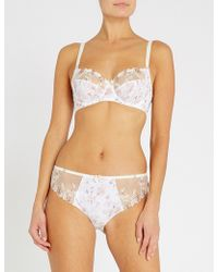 Fantasie - Alicia Floral-embroidered Mesh Full-cup Bra - Lyst