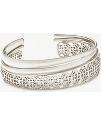 Kendra Scott - Tiana Filigree Rhodium-plated Bracelet - Lyst