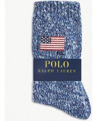 Polo Ralph Lauren American Flag Cotton-blend Socks - Blue