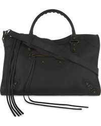 Balenciaga - Classic City Arena Grained Leather Shoulder Bag - Lyst
