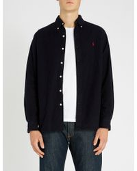 Polo Ralph Lauren - Button Down Brushed-cotton Shirt - Lyst