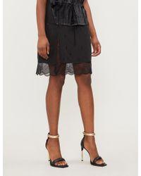Zadig & Voltaire Jillian Silk-crepe De Chine Skirt - Black