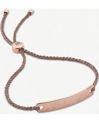 Monica Vinader Havana 18ct Rose-gold Vermeil Mini Friendship Bracelet - Metallic