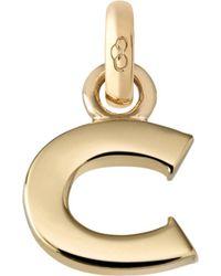 Links of London | Alphabet C 18ct Yellow Gold Charm | Lyst