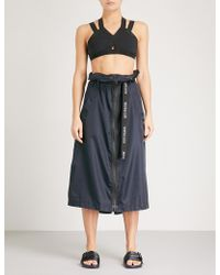 Ivy Park - Harness-detail Shell Midi Skirt - Lyst