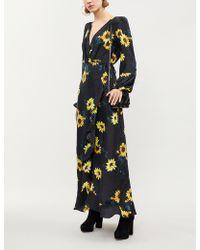 The Kooples - Floral-print Silk-crepe Maxi Dress - Lyst