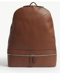 Eleventy - Brown Leather Backpack - Lyst