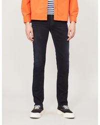 Citizens of Humanity Bowery Slim-fit Straight Stretch-denim Jeans - Blue