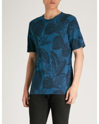 Tommy Hilfiger - Leaves-print Cotton-jersey T-shirt - Lyst