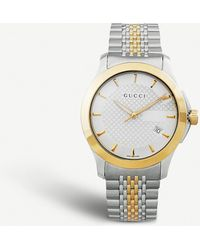 Gucci - Ya126409 G-timeless Collection Stainless Steel And Yellow-gold Pvd Watch - Lyst