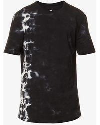PAIGE Kairo Tie-dye Cotton-jersey T-shirt - Black